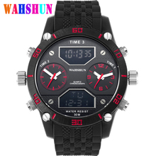 Top Luxury Brand Military Style Watches Men LED Digital Clock Fashion Double Movement Waterproof Sports Watch Relogio Masculino