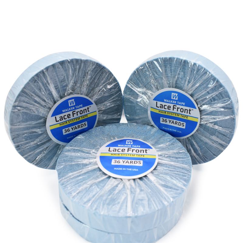 Free Shippig 0.8cm/1.27cm*36Yards Strong Blue Double-sided Adhesive Walker Tape For Tape Hair Extension