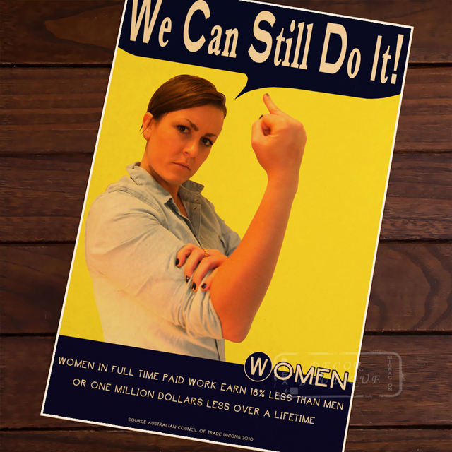 We Can Still Do It WW2 WOMEN IN FULL TIME JOB Vintage Poster Propaganda Decorative Wall