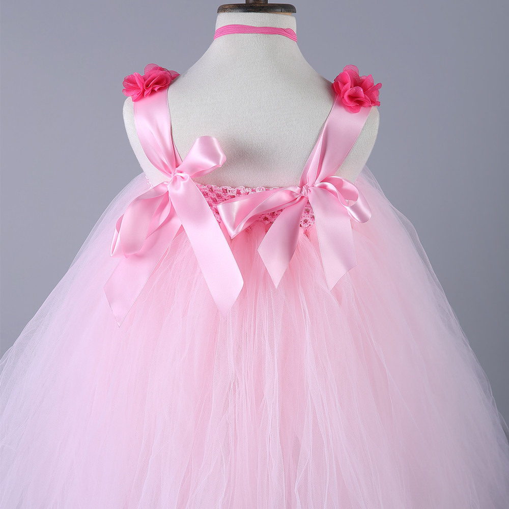 Aliexpress.com : Buy Flower Girl Dresses Pink Birthday Party Pageant ...