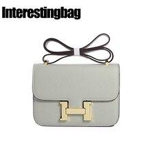 a5b7502a0973f INTERESTINGBAG السيدات اليد حقيبة 2018 ، حقيبة يد فاخرة حقائب النساء مصمم ،  H مشبك حقيبة