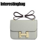 INTERESTINGBAG Ladies Hand Bag 2018,Luxury Handbags Women Bags Designer,H Buckle Messenger Bags,Shoulder Corssbody Bag For Women