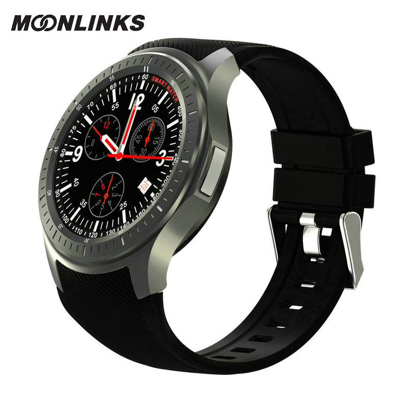 Moonlinks DM368 montre smart watch 2018 silicone montre android 5.1 3G connecte smartwatch montres de luxe top marque mens akilli saatler