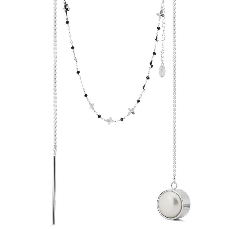 Pour SHAREMORE collier intelligent femmes dame bijoux perle pendentif multi-fonctionnel APP appel d'urgence à distance Selfie chaîne étanche