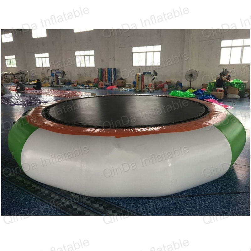 Guangzhou inflatable water trampoline/ inflatable floating water park / Exciting jumping trampoline environmentally friendly pvc inflatable shell water floating row of a variety of swimming pearl shell swimming ring