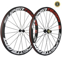 Superteam 50mm Clincher Tubular Carbon bike Road wheels carbon bicycle wheelset