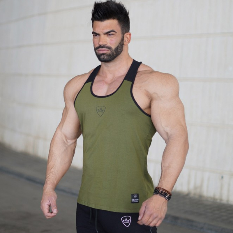 Men Bodybuilding Workout Cotton   Tank     top   Casual Sleeveless shirt Man Gyms Fitness Sling Vest Crossfit Brand Clothing Wholesale