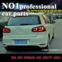 For vw golf 6 taillights 2009 2013 R20 model For VW golf MK6 led rear lights car styling cover drl+signal+brake+reverse