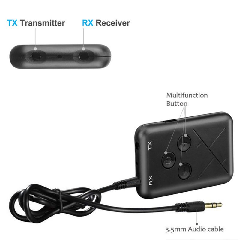 2 in 1 Bluetooth Transmitter Wireless Stereo Music Receiver Adapter 3.5mm Audio USB Cable TV DVD MP3 PC2 in 1 Bluetooth Transmitter Wireless Stereo Music Receiver Adapter 3.5mm Audio USB Cable TV DVD MP3 PC
