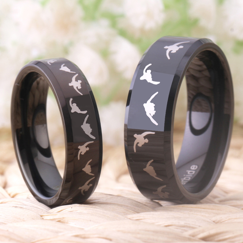 Fashion Tungsten Wedding Ring for Women Engagement Rings Men Lover - Fashion Jewelry - Photo 4
