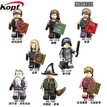купить Figures Building Blocks Harry Potter Hermione Ron Ginny Snape Dolls Action Bricks Toys For Children PG8133 дешево
