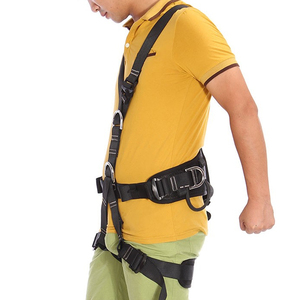 Image 3 - XINDA Top Quality Professional Harnesses Rock Climbing High altitude protection Full Body Safety Belt Anti Fall Protective Gear