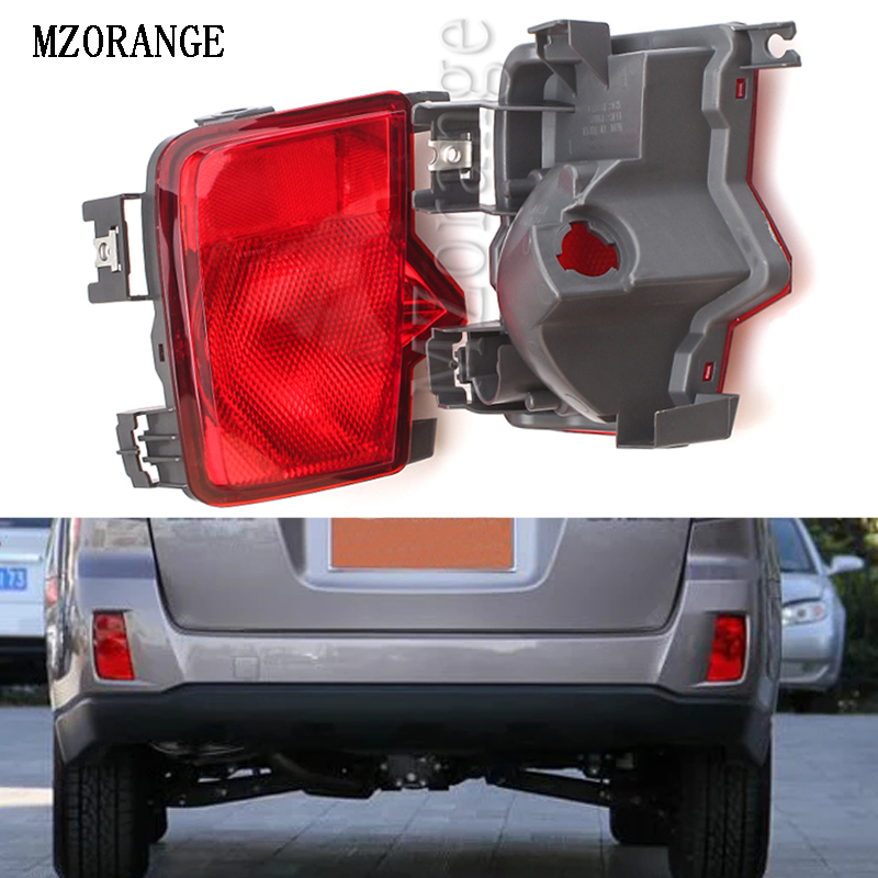 MZORANGE For Subaru Outback 2009 2010 2011 2012 2013 2014 Car Rear Tail Bumper Reflector Lamp Fog Light Clearance Lights No Bulb