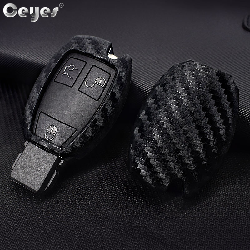 Ceyes Car-Styling Auto Protection Key Shell Carbon Fiber Cover Case For Mercedes Benz C180 E260L S320 GLK300 CLA CLS Accessories image