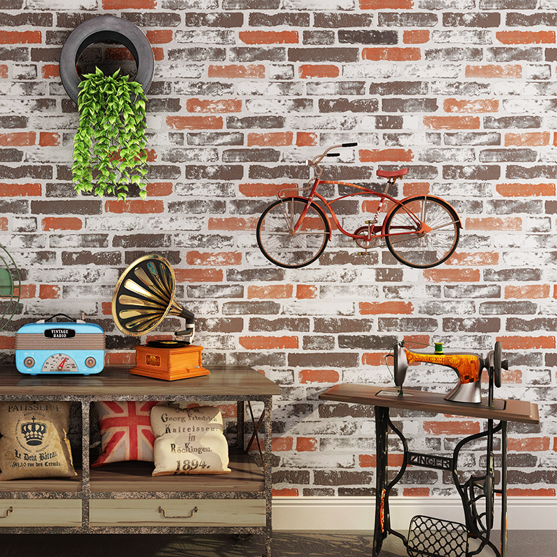 tapety Vintage Brick Wall Papers Home Decor Personalized Vinyl 3D Papel Mural Colorful Brick Wallpaper for Walls positano in Wallpapers from Home Improvement