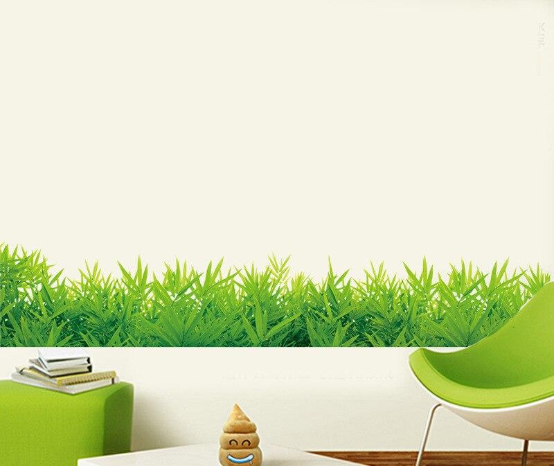 grne gras sockel linie wandaufkleber fr wohnzimmer das schlafzimmer badezimmer aufkleber hause dekorative aufkleber - Badezimmer Grn