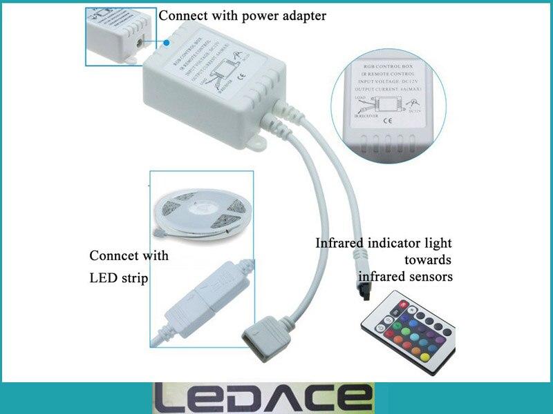 Impermeable 5M SMD 3528 RGB Kit de luz de tira flexible LED 300LEDs - Iluminación LED - foto 3