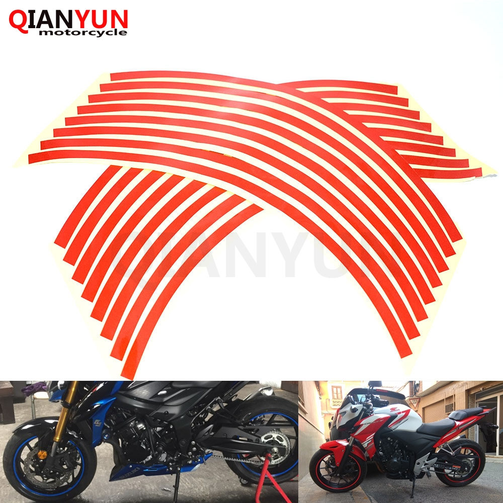 US $1 44 26% OFF|FOR MT07 MT09 TMAX Strips Car Styling Motorcycle  Automobiles Wheel Tire Sticker On Car Rim Tape Car Sticker Parking  Accessories-in