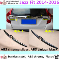 High Quality Car Styling Cover Detector Stainless Steel Chrome ABS Rear Boot Door Moulding Trim Trunk