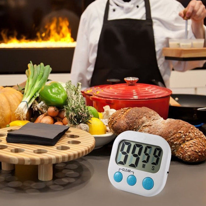 Kitchen Gadgets Stores: LCD Digital Kitchen Timer Portable Alarm Clock Cooking