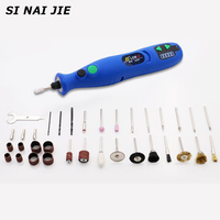 SI NAI JIE 35W Mini Electric Drill Rechargeablwith 6 Position Variable Speed Dremel Rotary Tools