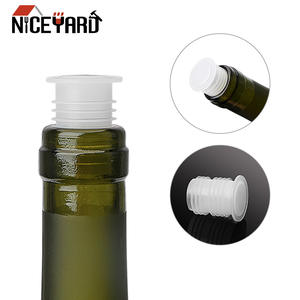 NICEYARD Wine-Bottle-Cap Plastic Bar-Tool Barware Pe Save-Plug Red 10piece/Set