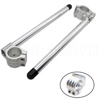 53MM FXCNC CNC Universal Motorcycles Adjustable Clip On Ons Handle Bar Fork 7 8 22mm Bar