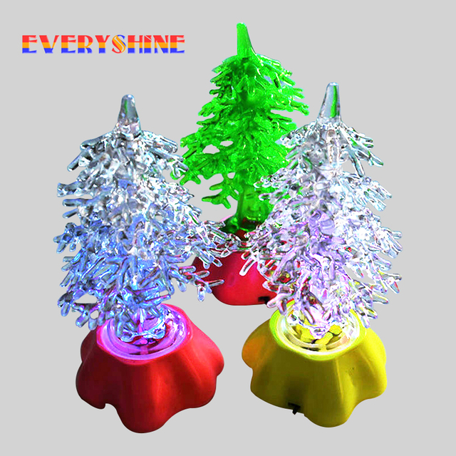 1pcs colorful acrylic led christmas decorating mini christmas tree light xmas children gifts festival party supplies