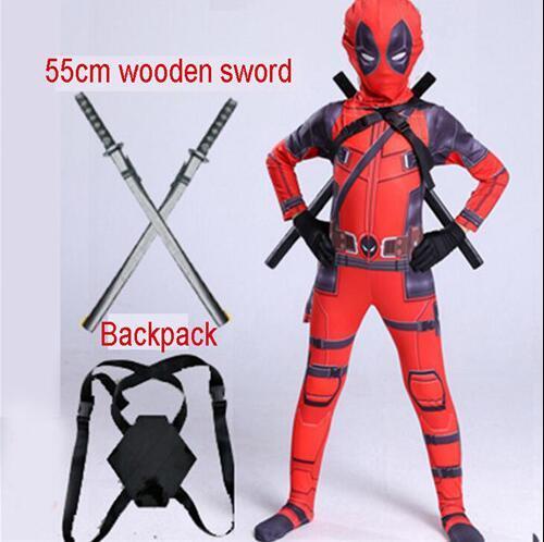 Costume Spandex pour enfants garçons, Costume pour fête dhalloween, costume Cosplay avec épée, 2019