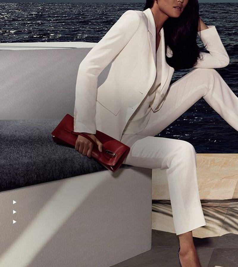 10 White Women Ladies Custom Made Business Office Tuxedos Work Wear Suits Bespoke
