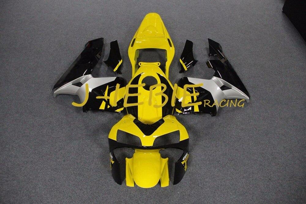 Yellow white black Injection Fairing Body Work Frame Kit for HONDA CBR600RR CBR 600 CBR600 RR F5 2003 2004