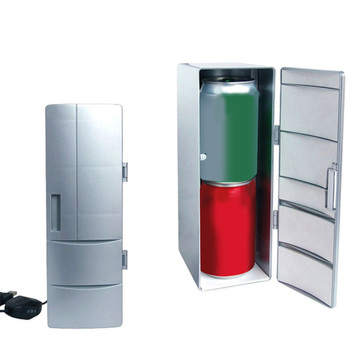 Car DC12V Universal Hot&Cold Dual USB Mini Fridge Mini USB Refrigerator Office Home Small Refrigerator Dropship