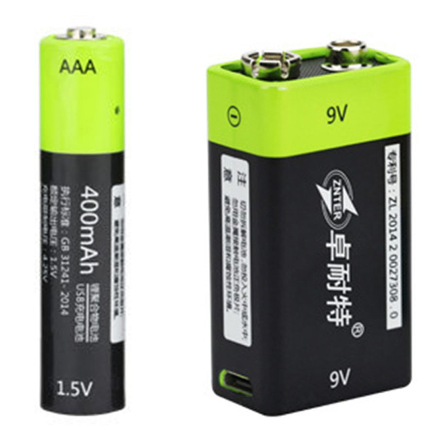 400mAh <font><b>9V</b></font> <font><b>USB</b></font> Rechargeable <font><b>Battery</b></font> Qaulity Lithium Polymer <font><b>Battery</b></font> Bateria Fast <font><b>Charging</b></font> Charger <font><b>Batteries</b></font> Micro <font><b>USB</b></font> Cable Input image