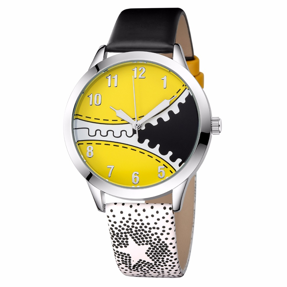 KEZZI New Fashion Brand Cartoon Children Watch Cute Kids Watches Student Quartz Leather Wristwatch Boy Girls Waterproof Relogio