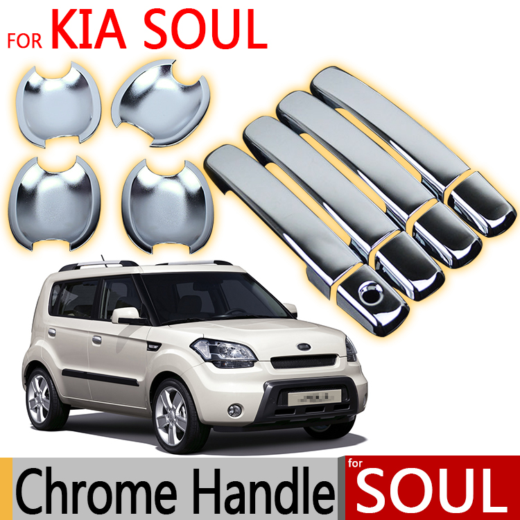 Kia Soul Accessories >> Us 16 51 For Kia Soul Am 2011 2012 2013 Chrome Door Handle Covers Trim Set Of 4pcs Car Accessories Stickers Car Styling In Chromium Styling From