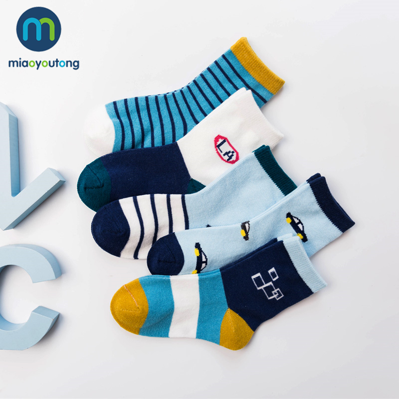 10 Pieces/lot 5 Pair Car Pattern Lovely Safe Comfort Skarpetki Newborn Sock Kids Boy Cotton Soft New Baby Socks Girl Miaoyoutong
