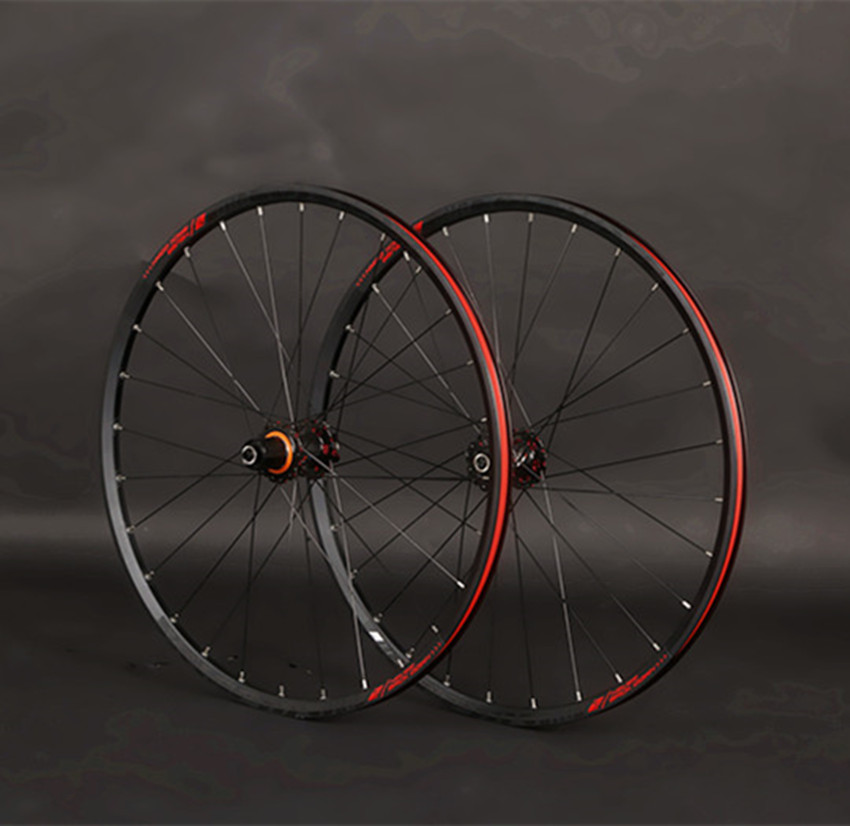 JK-MTB Mountain Bike 26 pollici In Fibra di Carbonio Ruote Cuscinetto Sigillato Wheelset 27.5 29 pollici Cerchi In Lega QR/Thru- asse