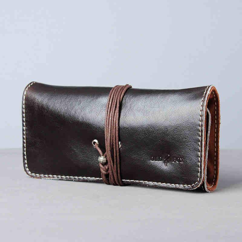 Sac porte-pipe à tabac Portable en cuir de vachette noir pochettes pour Pipe à tabac (3 pièces) le porte-pipe accessoires pour tabac