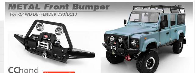 Rear Front Chassis Bumper With Winch Or Led Lights For Rc