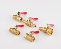 Hose Barb Fuel Water Air Brass Ball Valve Natural Gas Valve BSP Red Handle Thread Connect 10PCS