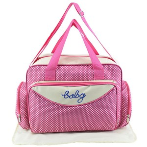 Image 3 - MOTOHOOD Baby Diaper Bag Organizer Baby Care Carriage Bag For Stroller Fashion Dot Multifunction Baby Bags For Mom 45*15*30cm