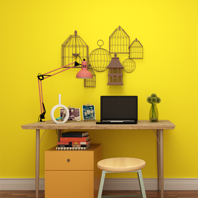 New Arrival Modern Solid Colors Wallpaper Bright Yellow Pink Blue ...
