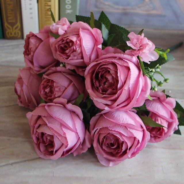 13 cabezas de flor ] envío gratis 1 unids hermoso barato Artificial ...