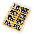 8 Pçs/set Mente Cérebro Teaser IQ Enigma Metal Wire Puzzles Jogo para Adultos Dos Miúdos Das Crianças