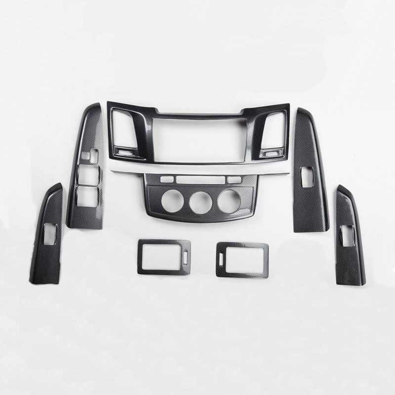 Per Harrier Fortuner Highlander Hilux Izoa Battitacco Soglia Porta Auto,Carbon Fiber Sticker adesivi Styling,Esterno Batticalcagno Prevenire lusura Previene graffi 4Pezzi Bianco