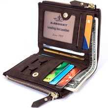 Wallet RFID Theft Protect Coin Bag Zipper Purse Wallets for Men with Zippers  Magic Wallet Luxury men's Purses And Wallets
