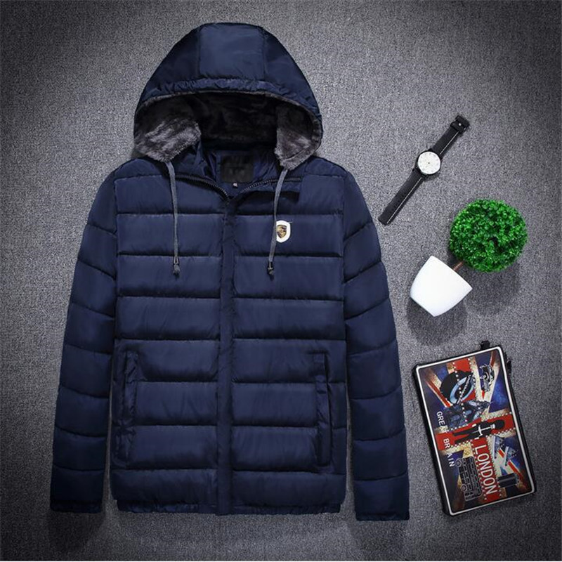 ФОТО 2016 New Big Size M-4XL Mens Coat Autumn And Winter Men's Outwear Windproof Parkas Men Thick Cotton Pluse Size Hot  A2693
