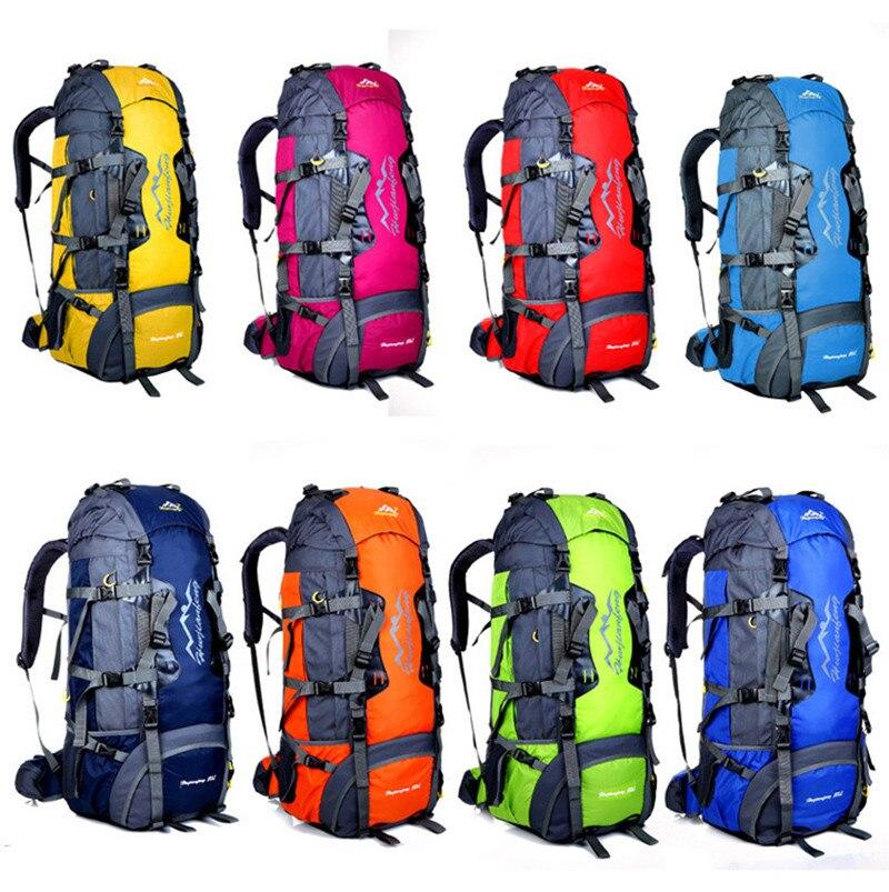 Haute qualité unisexe sac à dos fermeture éclair sacs de voyage 80L étanche sport tactique Camping randonnée sac à dos bagages sac à dos nouveau