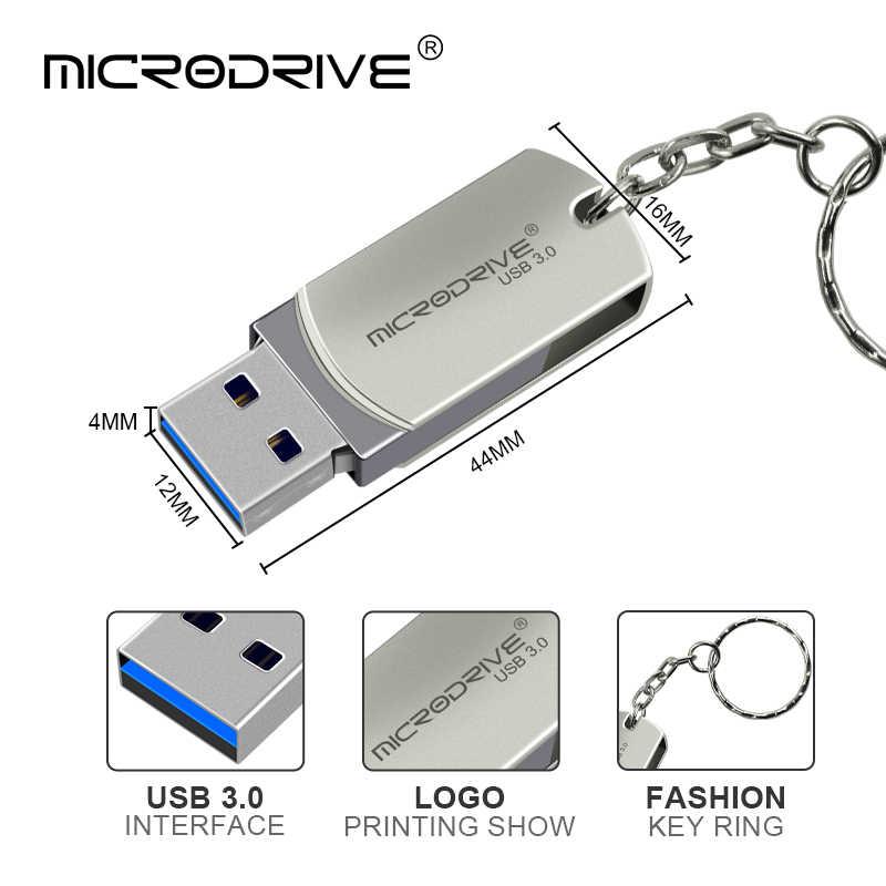 USB 3,0 Металлический флеш-накопитель 32 Гб 64 Гб 128 ГБ флэш-накопитель вращающийся usb флеш-накопитель 16 ГБ USB флэш-диск высокой Скорость USB3.0