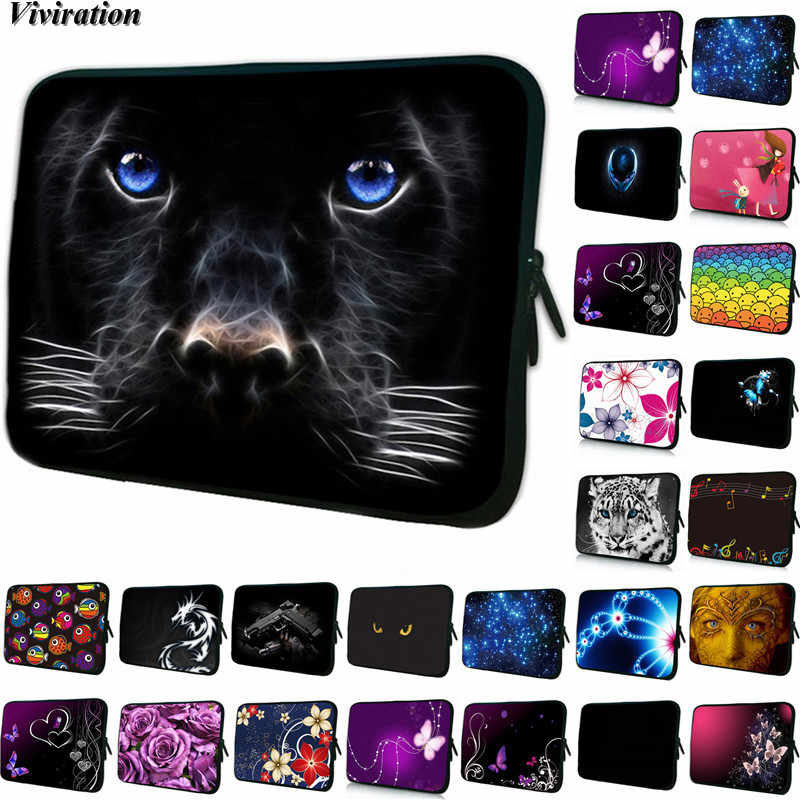 Sacoche universelle pour tablette 10 pour Apple iPad Air2 Air3/iPad Pro 10.5 pour iPad Mini 5/Xiaomi 4 noir chien imprime 7 Inchet Netbook Case